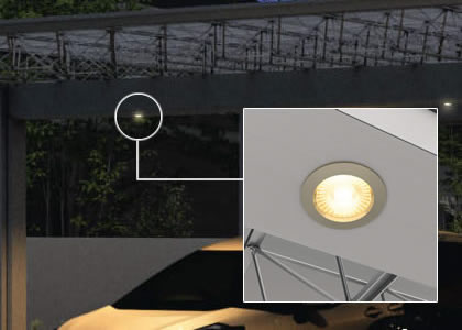 屋根下取り付けダウンライト(DC12V・24V)